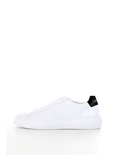 Calvin Klein Herren Schuhe Chunky Sole Sneaker Laceup LTH Weiß Sneakers 44 EU