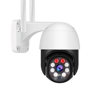 Telecamera di IP sorveglianza esterno,Telecamera wifi ,Telecamera 360 gradi impermeabile,1080P Auto Tracking Movimento Rilevazione Audio Bidirezionale,Compatibile Android/IOS, 64 GB incorporati