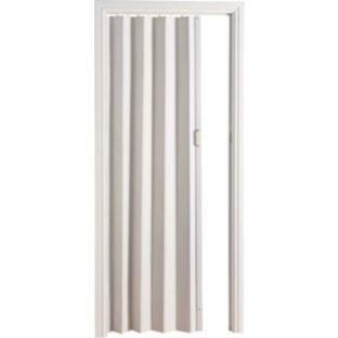 Puerta doble plegable, efecto de roble, color blanco (770127611)