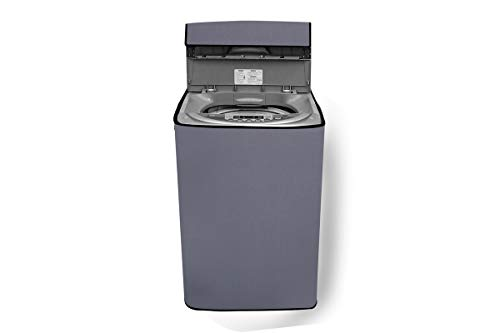 Stylista Washing Machine Cover Compatible for Whirlpool 7.5 kg Fully-Automatic Top Load 360 Degree Bloomwash Pro 7.5 Darkgrey Color