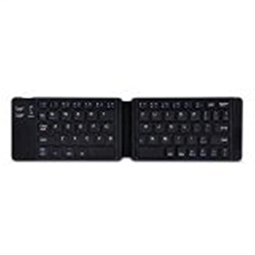 TYTG Accesorios para Laptop Mini Teclado Plegable inglés, Teclado inalámbrico Bluetooth con touchpad, para Tablet Accesorios de computador (Color : 2 Fold English Black)