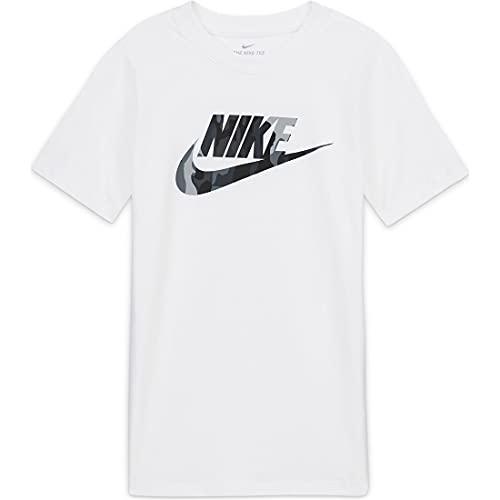 NIKE NSW Futura Camo Fill - Camiseta Unisex para niños Blanco L
