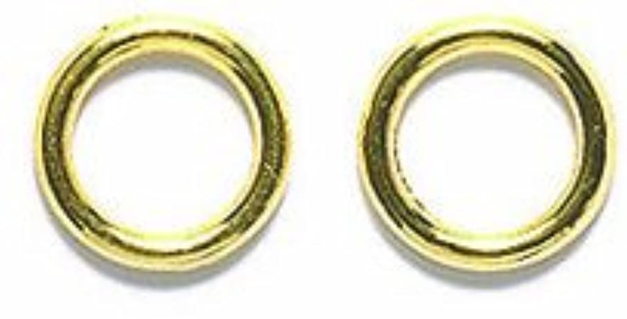 Shipwreck Beads Electroplated Brass 18-Gauge Solid Jump Ring, 8mm, Metallic, Gold, 7-Gram