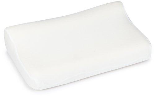 Sissel Unisex-Erwachsene Nackenkisssen Soft Medium, Inkl. Bezug Nackenkissen, Ecru, 47x33x11 cm