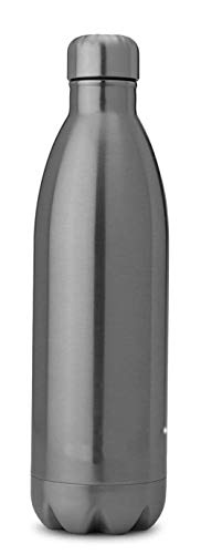 Ankaret Stainless Steel Double Wall Vacuum Insulated Thermo Flask Hot Cold 24 Hours Water Bottle for Office Indoor Outdoor Sports Silver 500ml 100% Made in India (Set of 1)