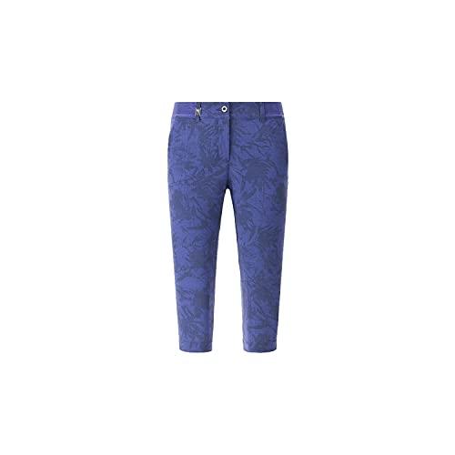 Chervo Santa - Pantaloni da golf da donna con motivo a fantasia, colore: blu scuro