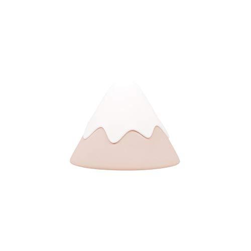 Night light Lámpara de Noche Snow Mountain Lamp Silicone Plug-in Dormitorio Ahorro de energía con la luz de la Cama para Dormir Luz de la Noche de la habitación del bebé Luz guía (Color : Pink)