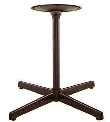 e-kanamono テーブル脚 GG2560 ベース395x395 パイプ38.1φ 受座280φ 基準色塗装 AJ付 高さ700mmまで 黒紛体塗装