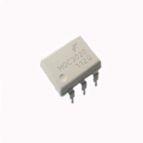 UIOTEC 10 Pcs MOC3020 DIP-6 Original Optoisolators Transistor Output Fairchild*