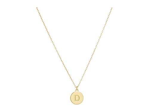 Kate Spade New York D Mini Pendant Necklace Gold One Size