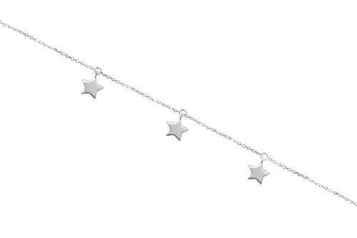 Pulsera de varias estrellas, Pulsera de oro de 9K 14K 18K, Oro blanco, Varias estrellas pequeñas, Pulsera celestial de oro macizo, Regalo romántico para ella/code: 0.002