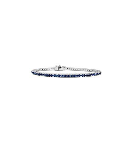 Bracciale Tennis Oro 18 Kt Zaffiro blu