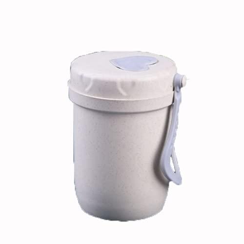 YIXINYOUPIN Vaso de paja de trigo reutilizable irrompible, respetuoso con el medio ambiente, botella de agua saludable biodegradable, tazas de amor multicolores, puede contener café, té blanco