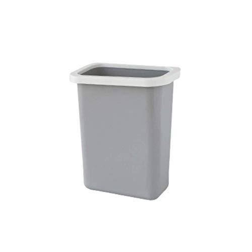 LXYZ Bote de Basura de plástico Vertical para Montaje en Pared/Colgante, Forma cilíndrica Larga, sin Tapa, para Cocina/baño/Estudio/Sala de Estar