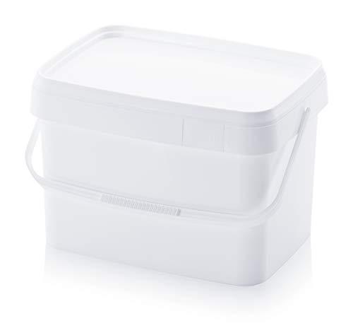 Eimer 20l rechteckig * 20 Liter * lebensmittelecht stapelbar Kunststoffeimer 20Liter weiß Farbe Futter Gastro Catering