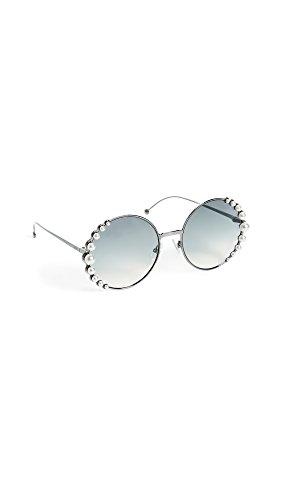 Fendi dames ronde parel frame zonnebril