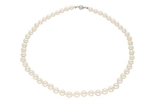 Perlenkette 7mm/46cm mit Kugelschließe Silber 800, Akoya-Perle