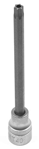Koshihara コシハラ N338 差込角 9.5mm(3/8インチ) いじり止めトルクスビットソケット いじり止め(穴あり) スタービットソケット(穴開き) T40H 全長120mm 軸S2 台湾製 整備用工具