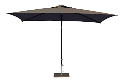Maffei Art 138r Kronos Parasol rectangulaire cm 200x300, Tissu Polyester. Made in Italy. Couleur Taupe