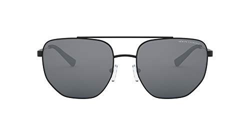 AX Armani Exchange Ax2033s - Gafas de sol cuadradas de metal para hombre