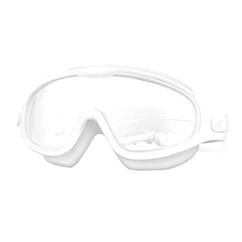 WSGYX Swim Goggles for Kids Anti-Fog Protection Clear Vision Vision Vision Bicchieri con Tappellone per 4-15 Anni Bambini (Color : C3 White, Size : Other)
