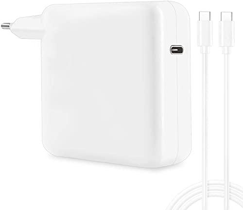 """96W USB C Chargeur avec 2M USB C Câble pour MacBook Pro 16"""" 15"""" 13"""" (2016 2017 2018 2019 2020) MacBook Air (2018 2019 2020), iPad Pro et Plus, Il Peut remplacer Votre Chargeur USB C 87W 61W 30W, Blanc"""