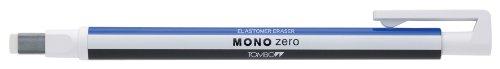 Tombow Mono Zero - Gomma di precisione a penna con punta rettangolare, 2 ricariche incluse, colore bianco