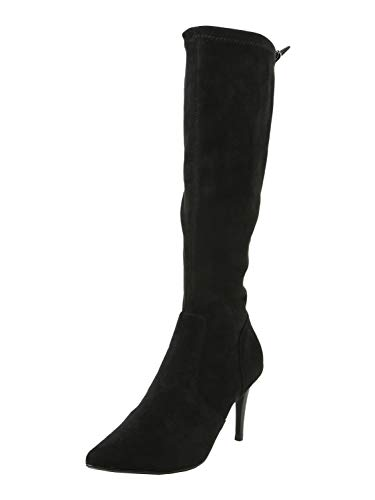 Buffalo Damen Stiefel Meredith, Frauen Klassische Stiefel, Lady Ladies elegant Women's Women Woman Freizeit leger Boots,Schwarz(Black),41 EU / 7 UK