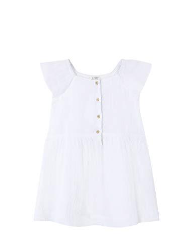 Gocco Vestido bambula Blanco, 11-12 años para Niñas