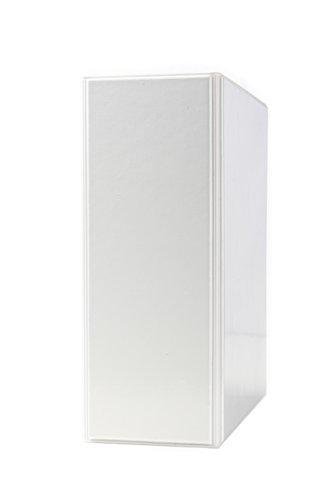 DIN A5 Ordner PVC in weiss 60 mm Rückenbreite, Füllhöhe 45 mm im 2er Pack, 2 er Reissmechanik