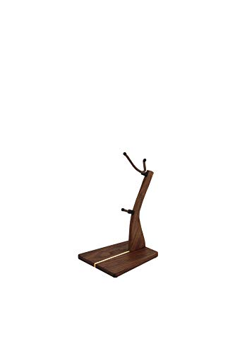 Zither Wooden Saxophone Stand - Handcrafted Solid Walnut Wood Floor Stands, Made in USA