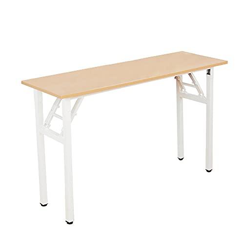 DlandHome Tavolo da scrivania Pieghevole 120x40 cm Compatto Robusto Scrivania Scrivania da Lavoro...
