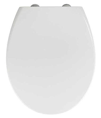 WENKO WC-Sitz Delos Family - Antibakterieller 2 in 1 Toiletten-Sitz für Kinder und Eltern mit Absenkautomatik, Duroplast, 37.5 x 44.5 cm, Weiß