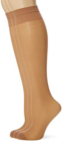 Pretty Polly Damen Medium Support Knee Highs 2pp Kniestrümpfe, 15, Beige (Nude Nude), One Size (Herstellergröße: OS) (3er Pack)
