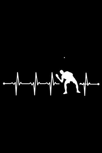 Table Tennis Heartbeat: A5 Liniertes Notizbuch auf 120 Seiten - Tisch tennis Notizheft | Geschenkidee für Tischtennisspieler, Fan, Trainer und Coach