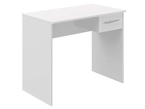 Marchio Amazon -Movian, scrivania con cassetto singolo in stile moderno, modello Inari, 50 x 90 x 73 cm, colore bianco