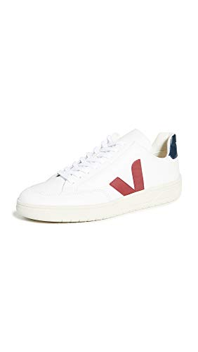 VEJA V-12 LEATHER Sneakers hommes Wit/Blauw/Rood Lage sneakers