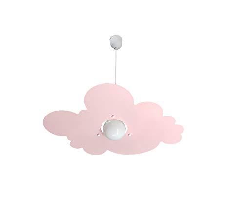 Lampadario Rosa Nuvola per Camerette Stanzette Bambini