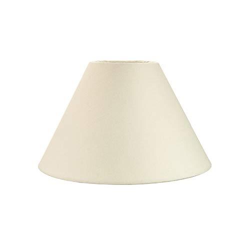 Pantalla Tradicional 8 tipo Coolie de Algodón color crema adecuado para lámpara de mesa o colgante por Happy Homewares
