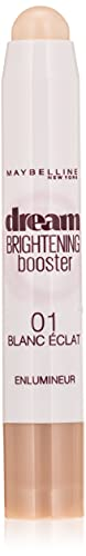 Maybelline New York Dream Brightening Concealer Correttore per Occhiaia Illuminante in Stick, 1 White