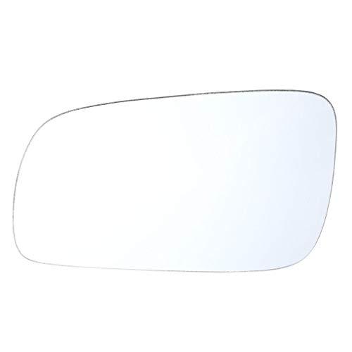 fgyhtyjuu Weiße Linke Seite Ersatz für Glas für Golf 4,1J1857521 Golf 4 MK4 1999-2005 1J1857521 Car-Styling Rückspiegel Seitenspiegel Glaslinse