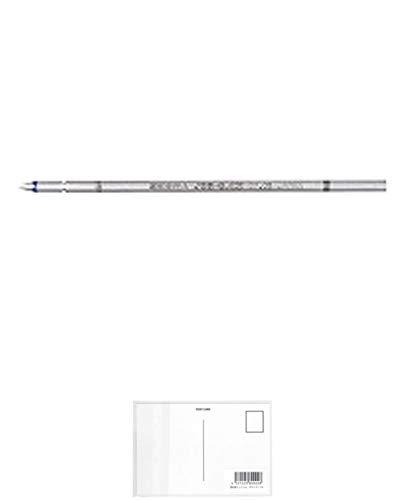 ゼブラ ジェルボールペン替芯 JSB-0.4 ブルーブラック RJSB4-FB 【5本】 + 画材屋ドットコム ポストカードA
