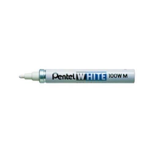ぺんてる 油性ペン ホワイト 中字 白インキ X100W-MD 『 2本』