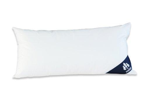 Badenia Bettcomfort Irisette Noblesse Kopfkissen, Baumwolle, 40 x 80 cm, weiß