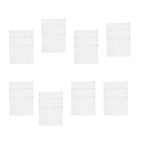 Beaupretty toile sac à fermeture à glissière sac à main bricolage bricolage maquillage pochettes porte-monnaie sac à main pour le voyage 10pcs (blanc)