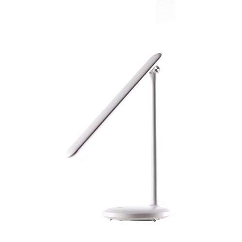 LIPETLI Multifuncional Luces Lectura LED Luz Tenue Metal Ojo Proteccion Modo Lámpara Mesa Plegable USB Conveniente Buen Atenuación Continua Protección Ocular,Blanco