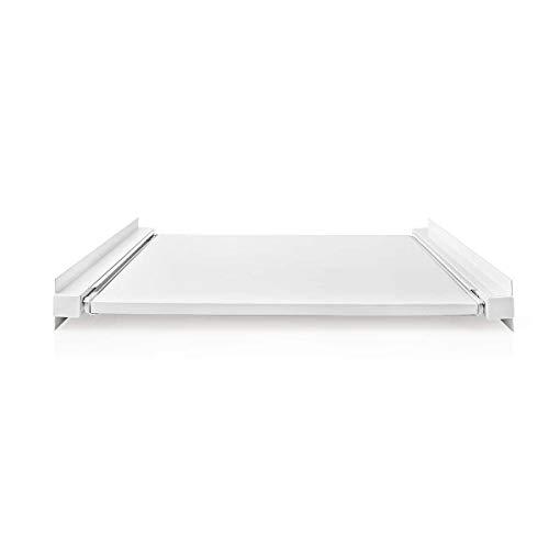 NEDIS Kit Universal apilable para Lavadora y Secadora Kit de apilado para Lavadora/Secadora - 60,7 cm Blanco