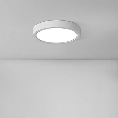 20W Plafón LED Techo Redondo, bapro φ17cm Lámpara Led Techo de Cocina 890LM Super Brillante 6500K, Moderna LED Plafón de Techo para Cocina, Salón, Dormitorio, Baño y Pasillo