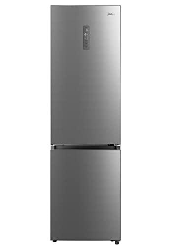 Midea KG7.20XL - Frigorífico Combi Inox A++ - No Frost - Libre Instalación - Frigorífico de Gran Capacidad 256 L + 104L Congelador - Control de temperatura táctil - Alto: 2m - Ancho: 59.5 cm