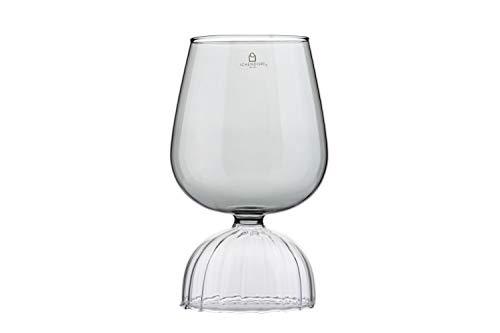 Ichendorf Milano Tutù Colore - Copa de vino tinto, transparente, cristal de borosilicato, diseño italiano moderno, 17,5 cm